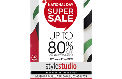 Style Studio UAE National Day Super Sale